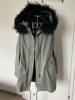 Marc Aurel Pelt Coat khaki-dark blue