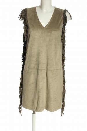 Marc Aurel Fringed Dress brown-natural white casual look
