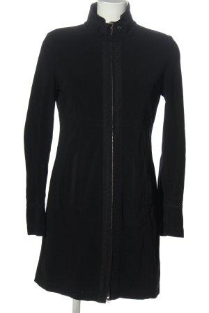 Marc Aurel Veste tricotée en grosses mailles noir moucheté style décontracté