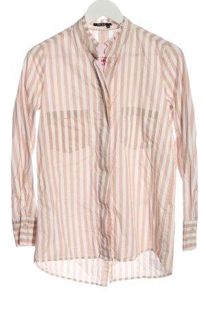 Marc Aurel Shirt Blouse white-cream striped pattern casual look