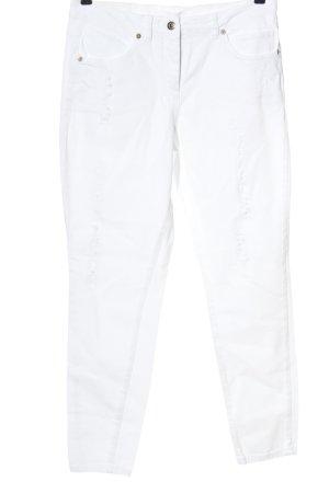 Marc Aurel Jeans a vita alta bianco stile casual