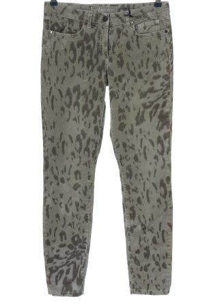 Marc Aurel Pantalon taille basse kaki motif de camouflage style décontracté