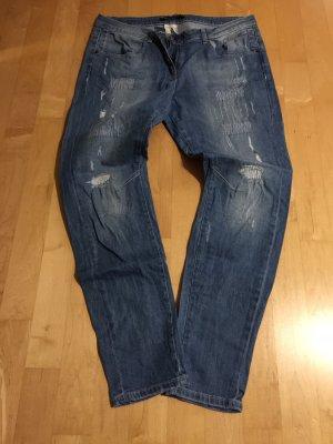Marc Aurel Boyfriend jeans staalblauw