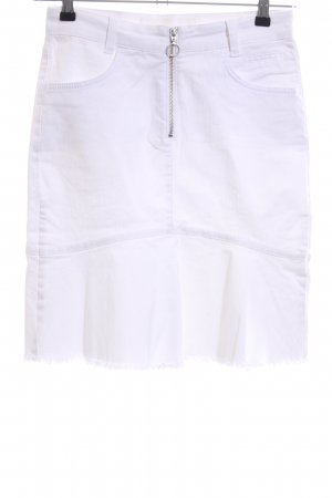 Marc Aurel Gonna di jeans bianco stile casual