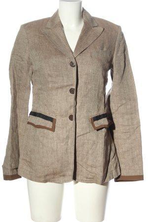 Marc Aurel Klassischer Blazer wolwit-bruin gestippeld zakelijke stijl