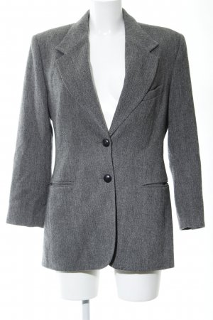 Marc Aurel Kurz-Blazer hellgrau meliert Business-Look