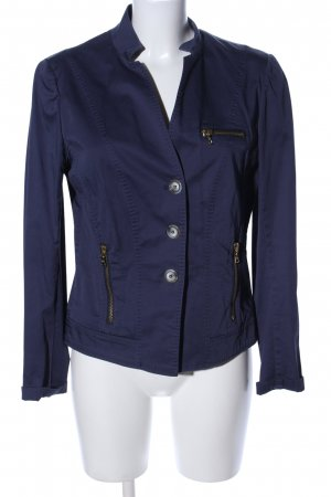 Marc Aurel Kurz-Blazer blau Casual-Look