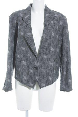 Marc Aurel Kurz-Blazer grau-dunkelgrau abstraktes Muster Vintage-Look