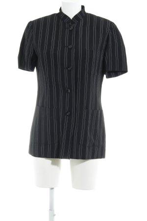 Marc Aurel Kurzarm-Bluse schwarz-weiß Streifenmuster