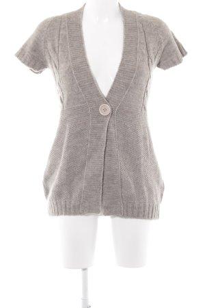 Marc Aurel Short Sleeve Knitted Jacket grey brown casual look