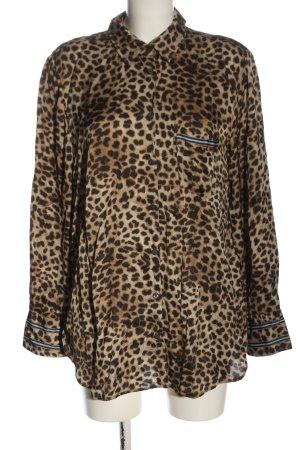 Marc Aurel Long Sleeve Shirt brown allover print elegant