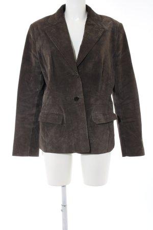Marc Aurel Leren blazer bruin zakelijke stijl