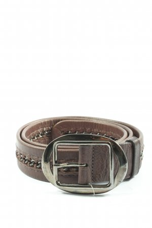 Marc Aurel Leather Belt brown-silver-colored business style