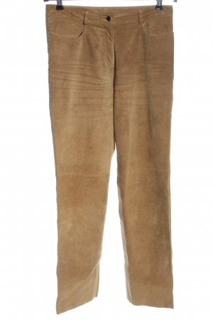 Marc Aurel Leather Trousers brown casual look