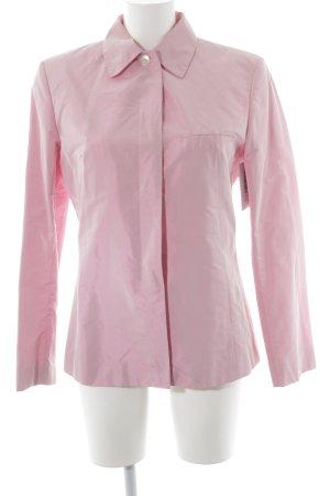 Marc Aurel Lange blazer roze wetlook