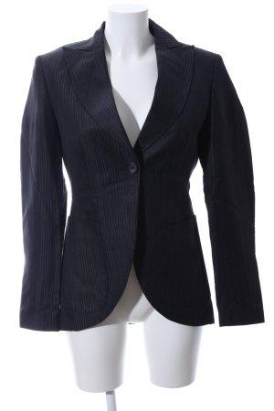 Marc Aurel Lange blazer zwart gestreept patroon zakelijke stijl