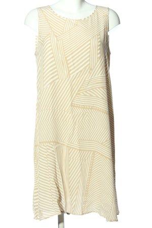 Marc Aurel Minikleid creme-weiß Streifenmuster Casual-Look