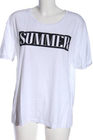 Marc Aurel Print-Shirt weiß Schriftzug gedruckt Casual-Look