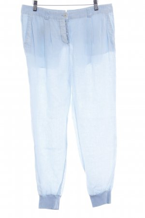 Marc Aurel Pantalon large bleu clair Ornements pailleté