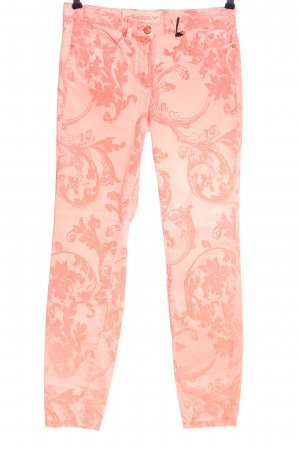 Marc Aurel Drainpipe Trousers pink abstract pattern casual look