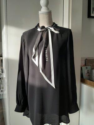 Marc Aurel Blouse avec noeuds blanc-noir