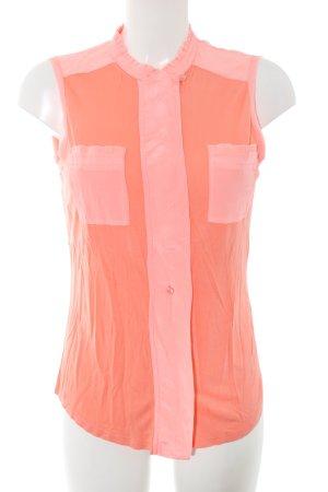 Marc Aurel Seidenbluse hellorange-pink Casual-Look