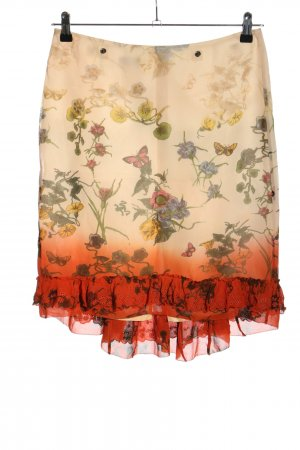 Marc Aurel Silk Skirt allover print casual look