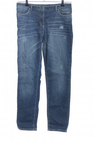 Marc Aurel Slim Jeans blau Casual-Look