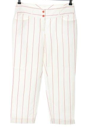 Marc Aurel Pantalon en jersey blanc-rouge motif rayé style décontracté
