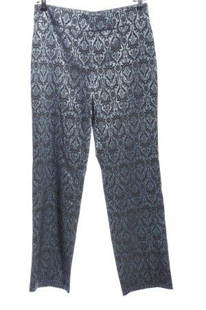 Marc Aurel Jersey Pants blue-black abstract pattern extravagant style