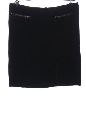 Marc Aurel Gebreide rok zwart zakelijke stijl