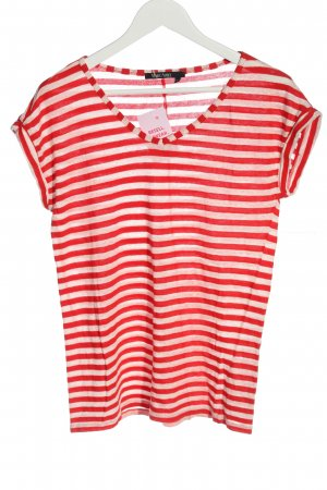Marc Aurel Knitted Jumper red-natural white striped pattern casual look