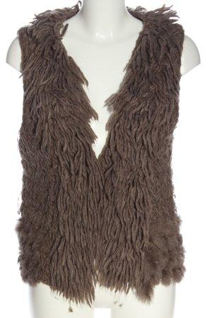 Marc Aurel Gilet tricoté brun style décontracté