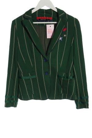 Marc Aurel Sweatblazer groen gestreept patroon zakelijke stijl