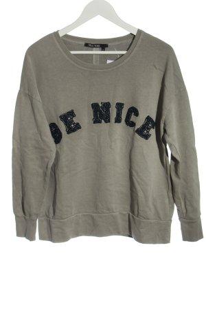 Marc Aurel Sweat Shirt light grey printed lettering casual look
