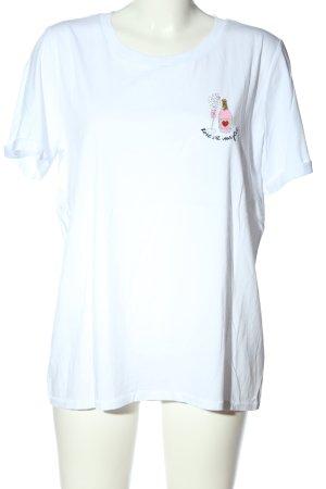 Marc Aurel T-Shirt weiß Motivdruck Casual-Look