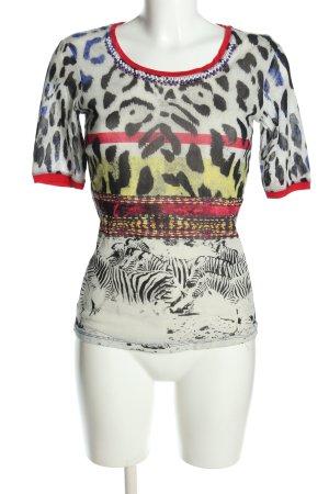Marc Aurel T-Shirt Animalmuster Casual-Look