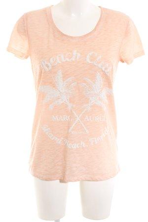 Marc Aurel T-Shirt creme-weiß meliert Casual-Look