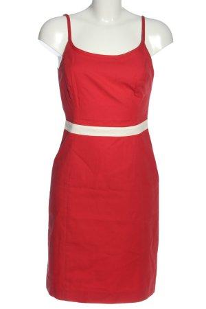 Marc Aurel Trägerkleid rot-weiß Elegant