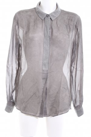 Marc Aurel Transparenz-Bluse hellgrau-silberfarben Business-Look