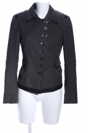 Marc Aurel Tweedblazer schwarz-hellgrau Allover-Druck Casual-Look