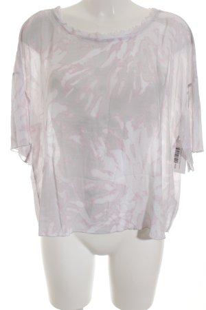 Marc Aurel U-Boot-Shirt hellgrau-altrosa florales Muster Romantik-Look