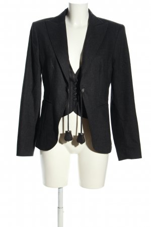 Marc Aurel Woll-Blazer schwarz Business-Look