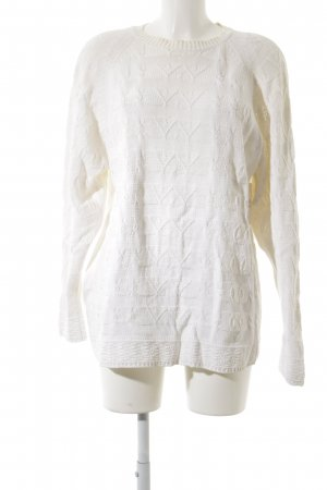 Marc Aurel Cable Sweater natural white fluffy