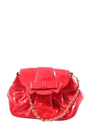 marc b. Torebka mini czerwony Pikowany wzór Ekstrawagancki styl