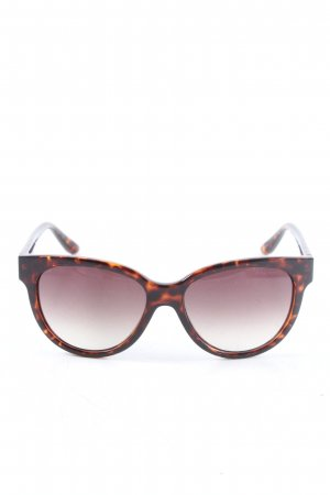 Marc by Marc Jacobs eckige Sonnenbrille braun-hellorange Animalmuster