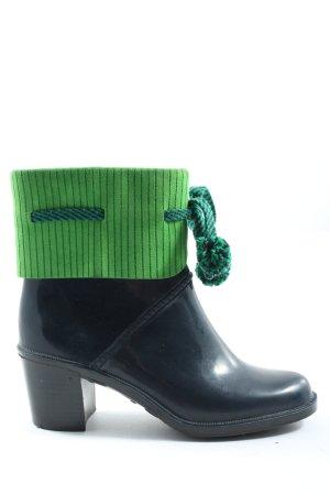 Marc by Marc Jacobs Gumowe buty niebieski-zielony W stylu casual