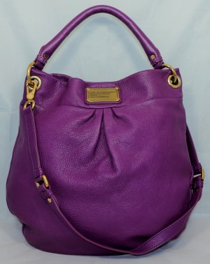 Marc by Marc Jacobs Hobos dark violet leather