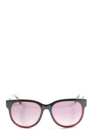 Marc by Marc Jacobs ovale Sonnenbrille schwarz-hellorange Casual-Look