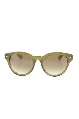 Marc by Marc Jacobs ovale Sonnenbrille Streifenmuster Logoprint